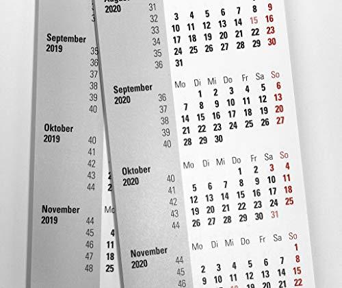 HiCuCo Ersatz-Kalendarium für 2 Jahre (2021+2022) passend für 3-Monats-Tischkalender mit Drehmechanik - Typ D1 und D2