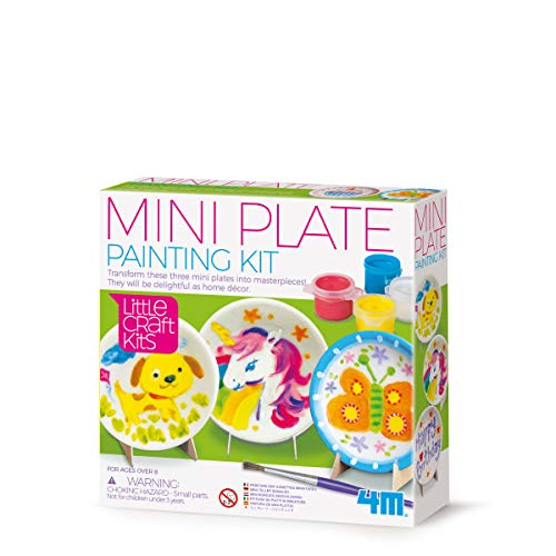 4M 404761 Little Craft Mini Plates Painting Kit, Multi Colour