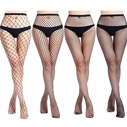 4-5 Pairs Fishnet Stockings Womens Lace Mesh Patterned Fishnet Leggings Tights Net Pantyhose