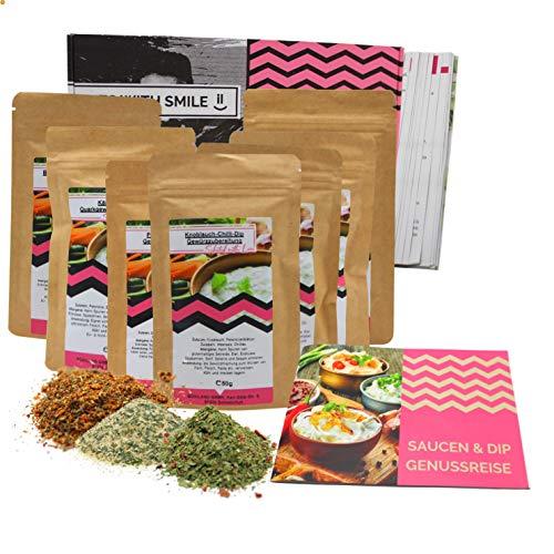 Saucen & Dips 7x50g I besondere Gewürzmischungen für Dips zum selber machen I Geschenkbox für Genießer Männer Frauen Hobbyköche