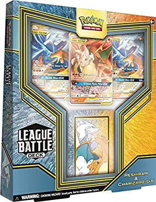 Pokémon TCG: Reshiram & Charizard GX League Battle Deck | 3 Pokemon-GX | 1 Deck Box | Genuine Cards, Multicolor (728192519246)