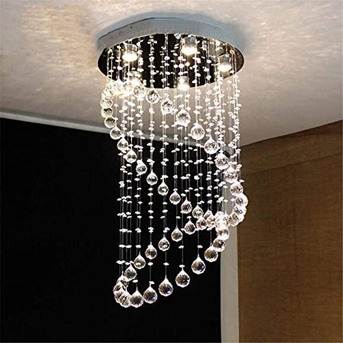 Lámparas de araña Moderna Lámpara Colgante, Luz De Techo De Araña De Cristal, Espiral K9 Bola Cristalina De La Lámpara De Escaleras para El Comedor, Dormitorio, Sala De Estar