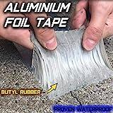 Cinta de aluminio y caucho butílico superimpermeable, para goteras, grietas superficiales, huecos en el marco de la ventana o roturas de tuberías (5 m)