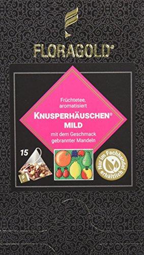 FLORAGOLD Pyramidenbeutel Früchtetee Knusperhäuschen magenmild, 1er Pack (1 x 68 g)