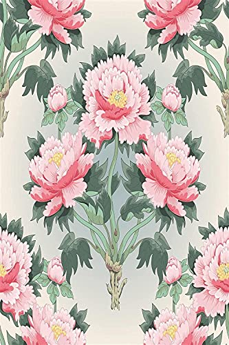 LDAAKL DIY Oil Painting Painting Number Kits Canvas Acrylic Adult Kids Art for Home Wall Decor Pink Beautiful Peony Tree 40x50cm