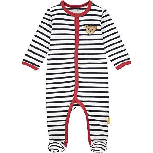 Steiff Baby-Mädchen mit süßer Teddybärapplikation Strampler, Navy, 056