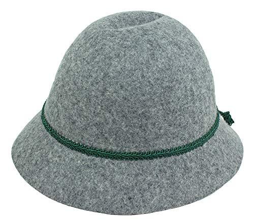 Isar-Trachten Hut für Kinder - Grau Gr. 49