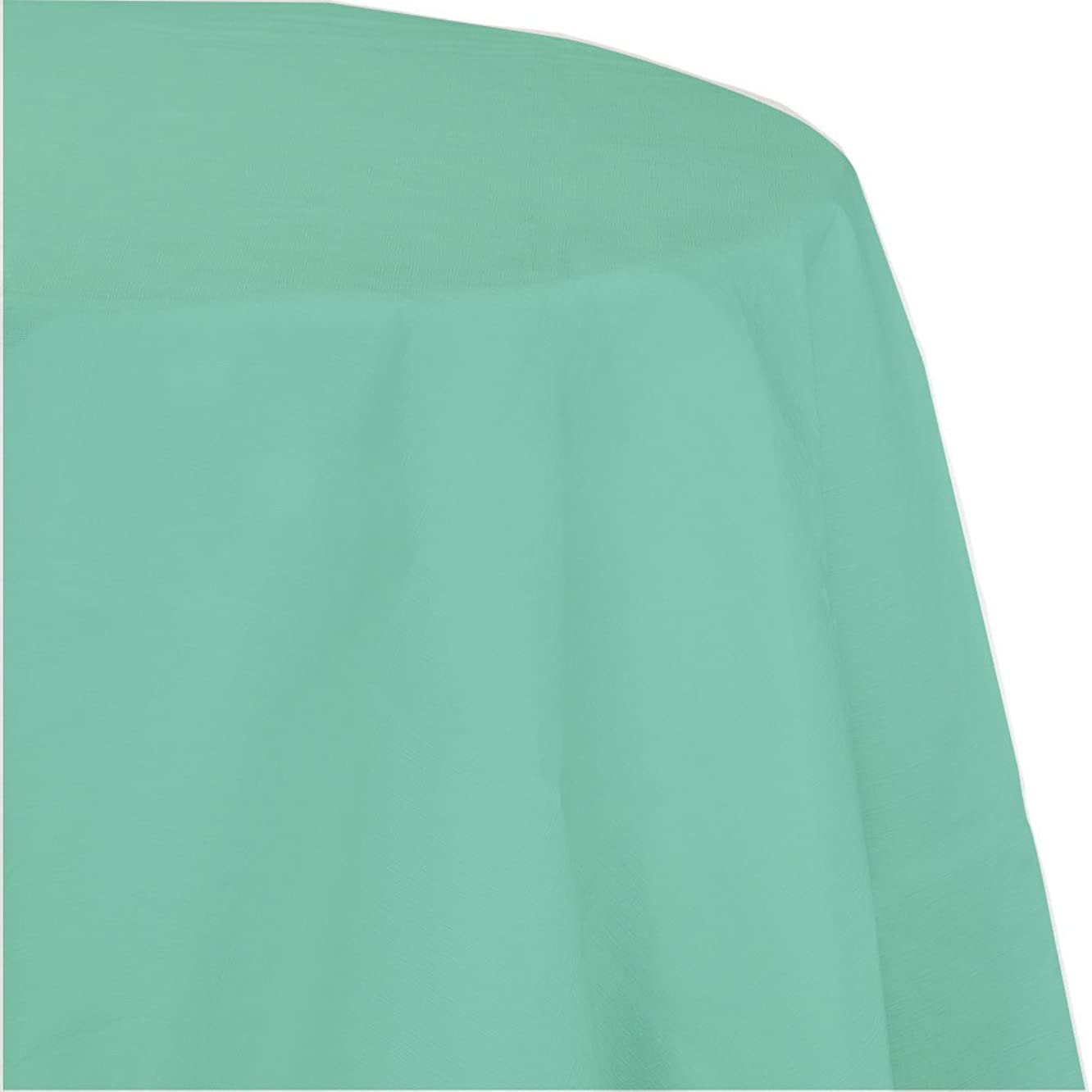 Creative Converting 318902 Touch of Color 12 Count Octy-Round Paper Table Covers, Fresh Mint