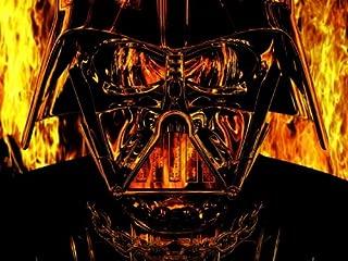 Darth Vader Mask Fire Flames Star Wars Art 24x18 Print Poster