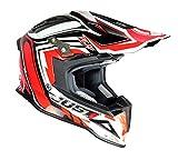 Just 1 Helmets J12Casco de Motocross, Rojo/Negro, M