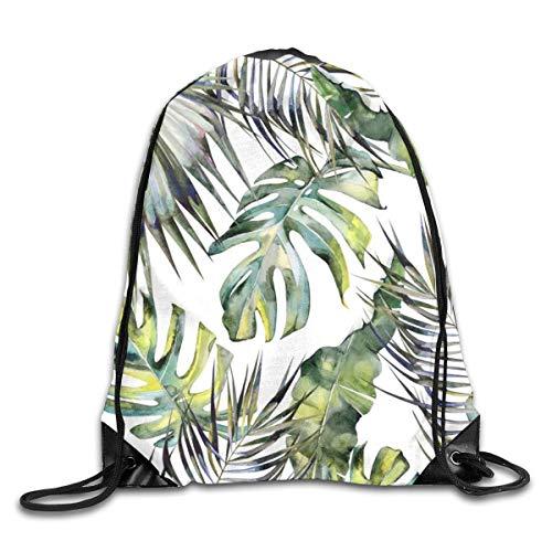 Drawstring Bag Rucksack Drawstring Backpack Tropical Garden for Picnic Gym Sport Beach Yoga Drawstring Sackpack Bag 36X43CM
