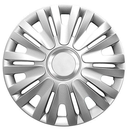 16Pulgadas Tapacubos Royal RC Silver (Plata con anillo cromado). Tapacubos apto para casi todos los VW Volkswagen