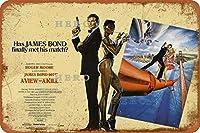 THE FRST JAMES BOND FILM007セクシービューティー4さびた錫のサインヴィンテージアルミニウムプラークアートポスター装飾面白い鉄の絵の個性安全標識警告アニメゲームフィルムバースクールカフェ40cm*30