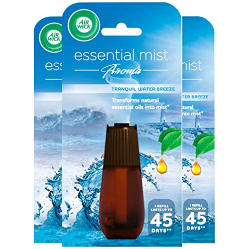 Air Wick Air Freshener Essential Mist Aroma, Tranquil Water Breeze, 3 x...