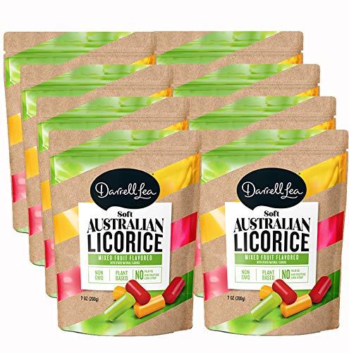 Darrell Lea Mixed Flavor Soft Australian Made Licorice 8 7oz Bags  NONGMO NO HFCS Vegetarian amp Kosher  America#039s #1 Soft Eating Licorice Brand