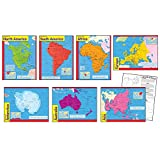 TREND enterprises, Inc. T-38930 Continents Learning Charts Combo Pack, Set of 7