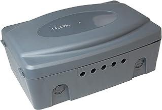 LogiLink LPS223 - weerbestendige elektronische box voor buiten (outdoor) in grijs met stof en spatwaterdicht (IP54), 32x21...