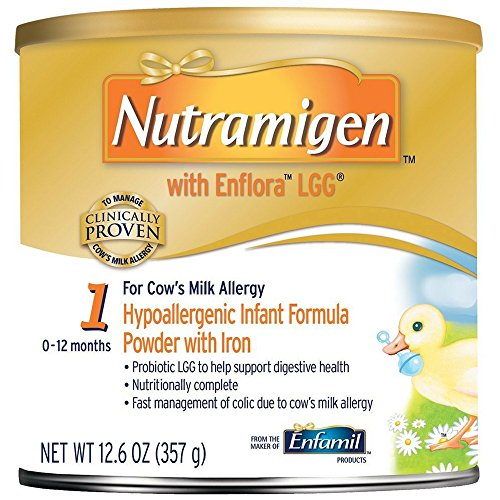 Image of Enfamil Nutramigen Hypoallergenic Colic Baby Formula Lactose Free Milk Powder, 12.6 ounce - Omega 3 DHA, LGG Probiotics, Iron, Immune Support