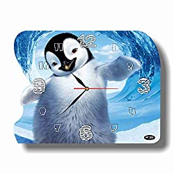 Art time production Happy Feet 15'' x 11'' Handmade Unique Wall Clock - Get Unique décor for Home or Office – Best Gift Ideas for Kids, Friends, Parents