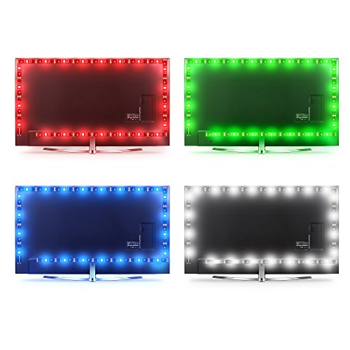 LED Light Strip 18ft for TV 65 to 82inch,WENICE tv Backlight Strip 5.5m with 24key IR Remote Multi Color-The Longest