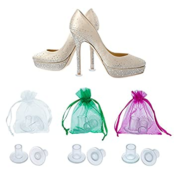 TOODOO 12 Pairs Heel Stoppers High Heel Protectors for Women s Shoes Small/Middle/Large Transparent