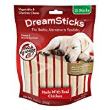 DreamSticks, Vegetable & Chicken Chews, Rawhide Free, 15-Count (DBC-02396)