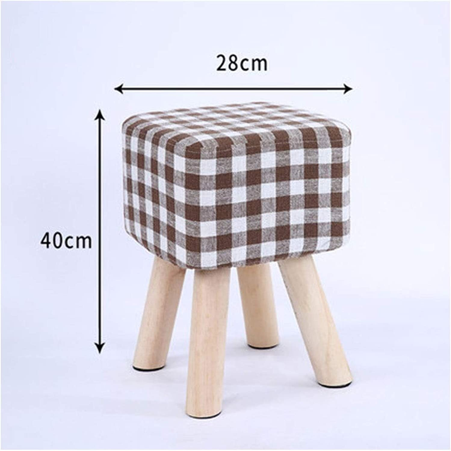 B.YDCM Wooden Bench- Stool Fashion Creative Makeup Stool Change shoes Bench Simple Bench Home Low Stool Bench Adult Stool - Wood Bench (color   D, Size   Square)