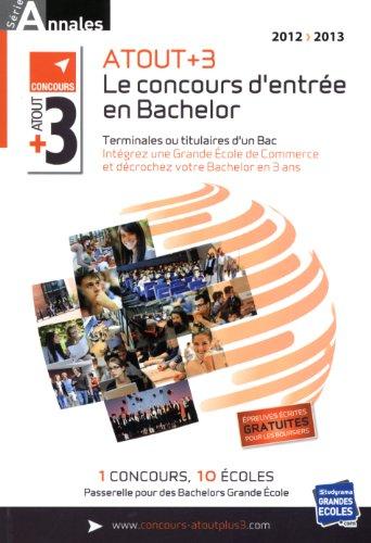 Annales ATOUT+3 : Sujets et corrigés officiels concours 2012