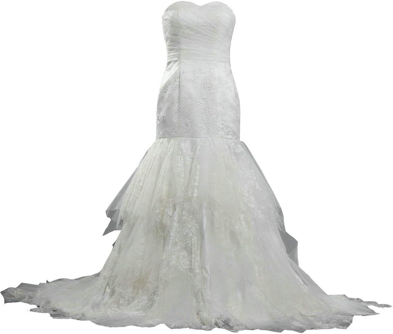 ANTS Women's Corset Sweetheart Wedding Dresses Mermaid Style