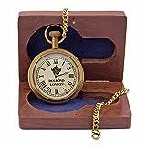 Royal Reloj de bolsillo de latón de estilo antiguo con números romanos, dial Dollond London