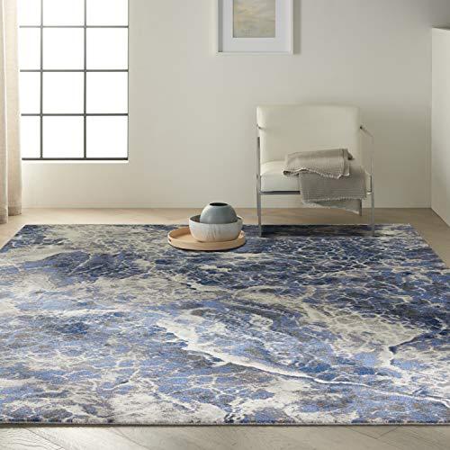 Calvin Klein Gradient Artistic Blue/Grey 9' x 12' Area Rug , 8'6' x 11'6'