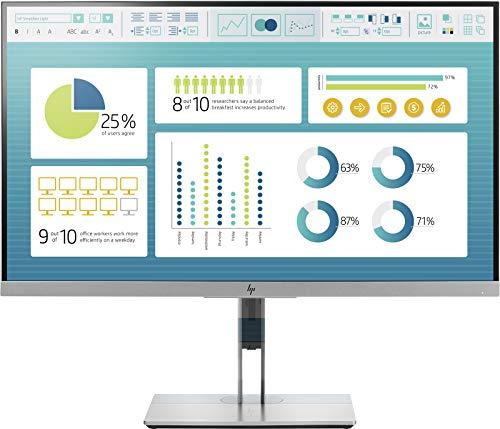 HP EliteDisplay 27-Inch Screen LED-Lit Monitor Black/Silver (1FH50AA#ABA)