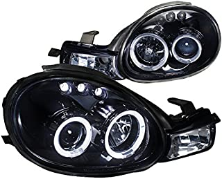 Spec-D Tuning LHP-NEO00G-TM Dodge Neon Plymouth Es Acr Rt Glossy Black Halo Led Projector Headlights
