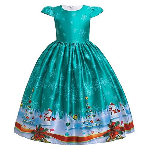 Ansenesna Kinder Weihnachten Kleid Kostüm Mädchen Prinzessin Weihnachtsmann Drucken Elegant Weihnachts Kleid Für Party