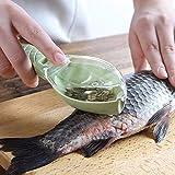 Fish Skin Brush Scraping Fishing Scale Brush Graters Fast Remove Fish knife Cleaning Peeler Scaler Scraper mutfak malzemeleri (Green)