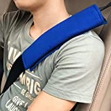 Beihome Gurtpolster 2 Stück, Polsterung für Sitzgurt Gurtpolster Auto Sicherheitsgurt Schulterpolster für Kinder Erwachsene