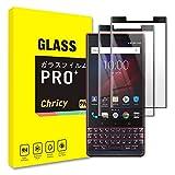 【2枚セット】BlackBerry KEY2 ガラスフィルム フィルム 保護フィルム 全面保護 3D熱彎技術 液晶保護フィルム 3Dタイプ液晶保護ガラス ケース 硬度9H 飛散防止 高透過率 (BlackBerry KEY2 ブラック)