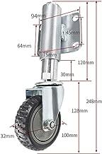 Spring Gate Wheels, Heavy-Duty Shock Absorber Rotating Caster, Height Adjustable 30/60mm, Nylon Wear-Resistant Silent Industrial Wheel (ø100mm)