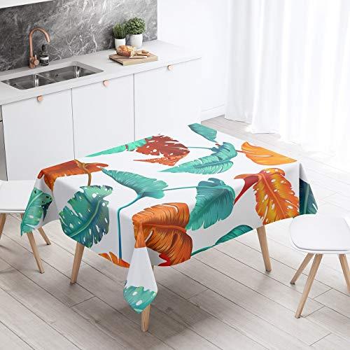 XXDD Manteles rectangulares nórdicos para Mantel Blanco Planta escandinavo Impermeable Hule decoración Cubierta A4 140x180cm