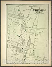 Historic Map - 1873 Long Island, New York.(N.Y.), Amityville, Town of Huntington. - Vintage Wall Décor - 44in x 55in