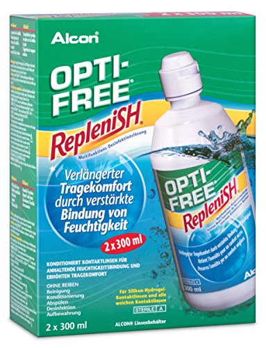 Opti Free Replenish, Kontaktlinsen-Pflegemittel, Vorratspackung 2 x 300 ml - 2