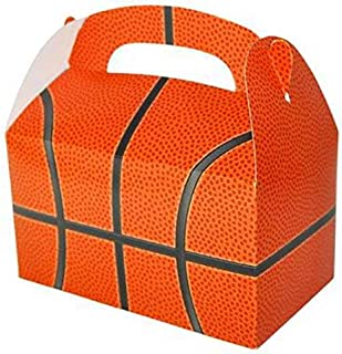 24 BASKETBALL TREAT BOXES 2 DOZEN BY DISCOUNT PARTY AND NOVELTY