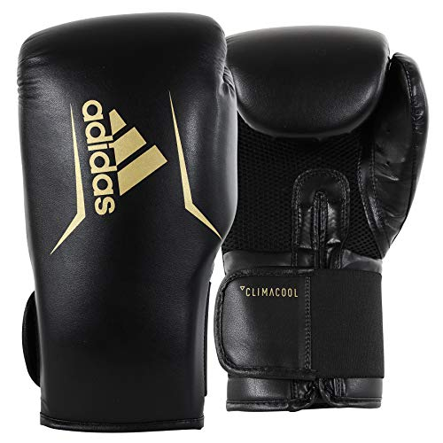 adidas Speed 75 Black/Gold Boxing Gloves - 12oz