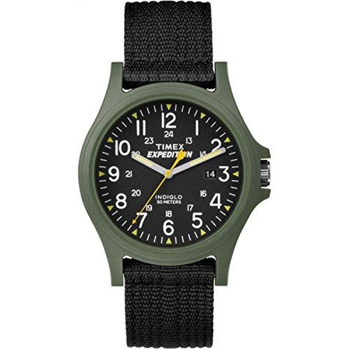 Timex Men's TW4999800 Expedition Acadia Black/Green Nylon Strap Watch