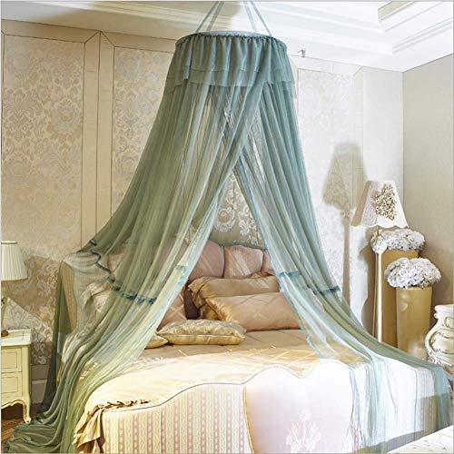 Mosquito cama cortina neta hogar libre de la instalación de mosquitos techo de cúpula mosquitera viento doble de la princesa cifrado neta gris rosa lili ( Color : Green , Size : 1.0m (3.3 feet) bed )