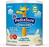 PediaSure Grow & Gain Non-GMO Shake Mix Powder, Nutritional Shake For Kids, With Protein, DHA, Antioxidants, and Vitamins & Minerals, Vanilla, 14.1 Oz, Pack of 3