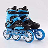 STBB Patines Enline Skates Profesional Adulto Roller Skating Zapatos Slalom Speed Patines Patinaje De Carreras 40 Negro-Azul 3-110mm