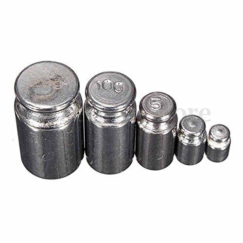 5 Stks 1 g 2 g 5 g 10 g 20 g Grams precisie chroom kalibratie weegschaal Set (75)