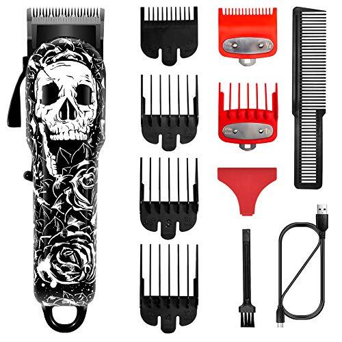 SURKER Haarschneidemaschinen für Männer Schnurloser Haarschneider Bartschneider Haarschnitt-Pflegeset Barber Haarschneider Professionell Wiederaufladbar