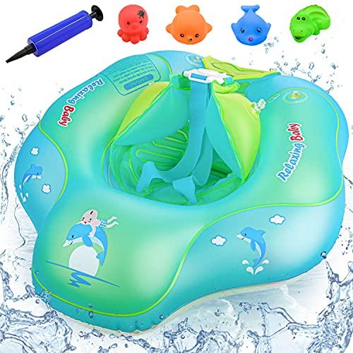 Baby Schwimmring, Anti-Umkippen Aufblasbare Schwimmreifen, Kleinkind Schwimmen, Baby Schwimmhilfe Swimtrainer, Schwimmsitz für Kinder 3 Monate bis 10 Monate